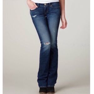 American Eagle Stretch Distressed Slim Boot Jeans
